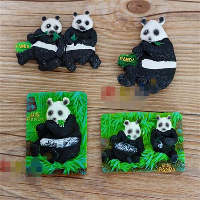 Free shipping Chinese Panda Bear Fridge Magnets Figures Traditional Tourist Souvenir home decoration toy party supply kids gifts