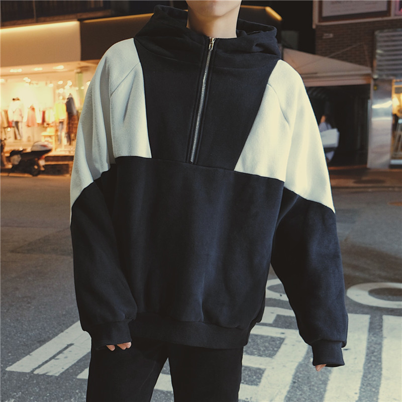 2017 Autumn Clothing New Hit Color zipper men&39;s casual sweatshirt hoodies men