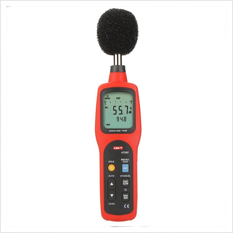 UNI-T UT352 Digital Sound Level Meters 30~130dB 31.5H~8000Hz Noise Monitor Testers Frequency 31.5Hz~8000Hz with Alarm Function